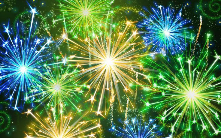 Vuurwerk (groene pijlen)