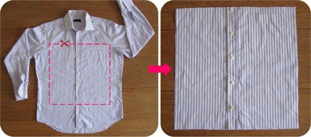 By MiekK Blogt: Recycle-Het-Zelf: Overhemd wordt Kussen