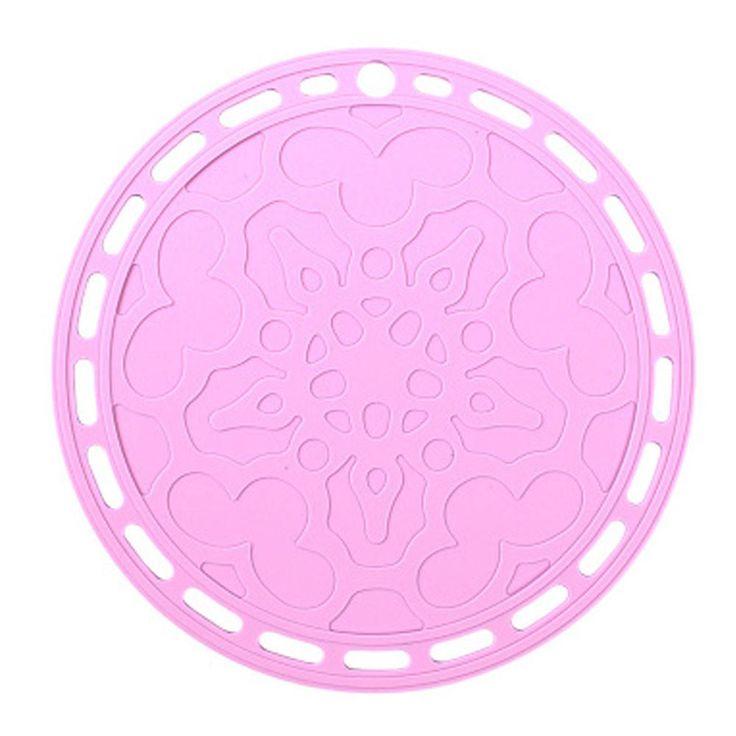 Light Purple Anti-slip Silicone Trivet Mat Hot Pad Pot Holder Coaster Cup Mat