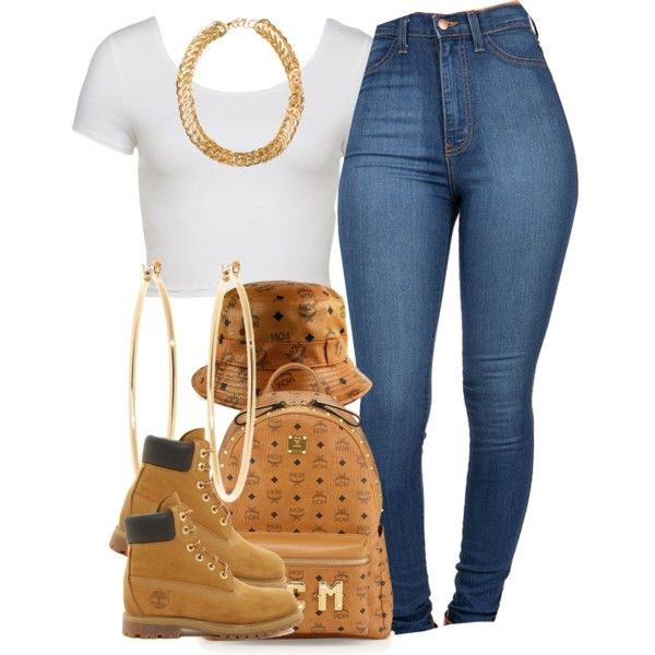 A fashion look from January 2015 featuring Timberland ankle booties, MCM backpacks and Brooks Brothers earrings. Browse and shop related looks.