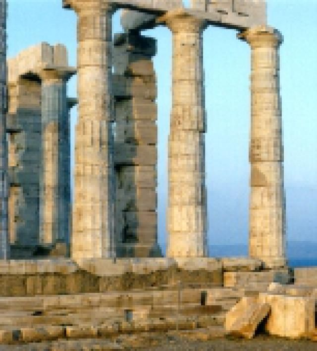 Cape Sounion and the Temple of Poseidon: The dramatic remains of the Temple of Poseidon at Cape Sounion.