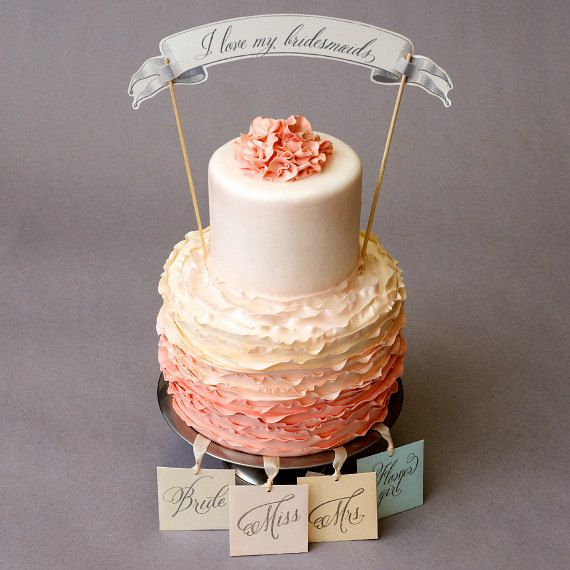 Bridal Shower Game  6 Silver Charm Cake Pulls for by WeddingsEtc, $66.00