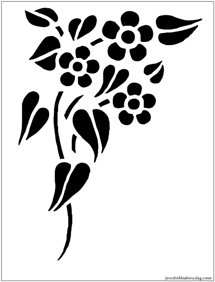 It's just an image of Unforgettable Flower Stencils Printable