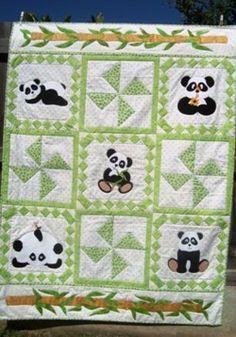 Panda quilt | quilts | Pinterest                                                                                                                                                     More