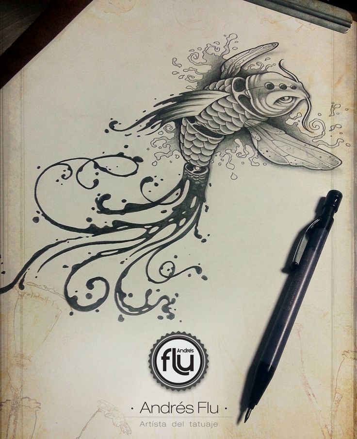 Koi fish design by Andres Flu