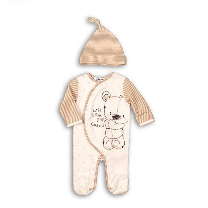 41ab053a4 Babaluno Unisex Baby Boys Girls 2 Piece Sleepsuit Romper & Hat Set ...