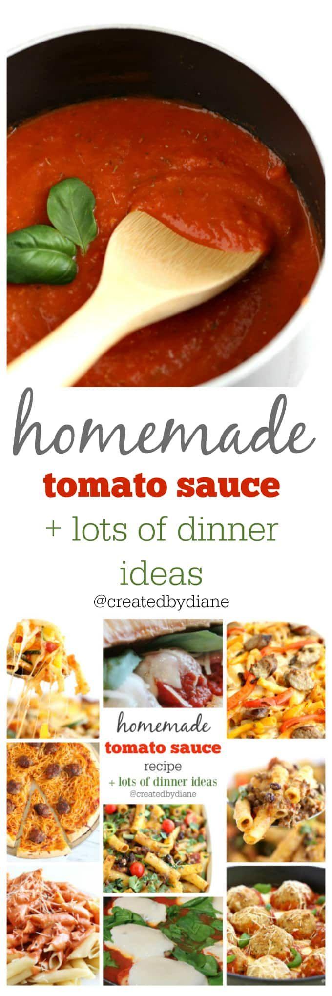 marinara sauce recipe with lots of easy dinner ide…Edit description