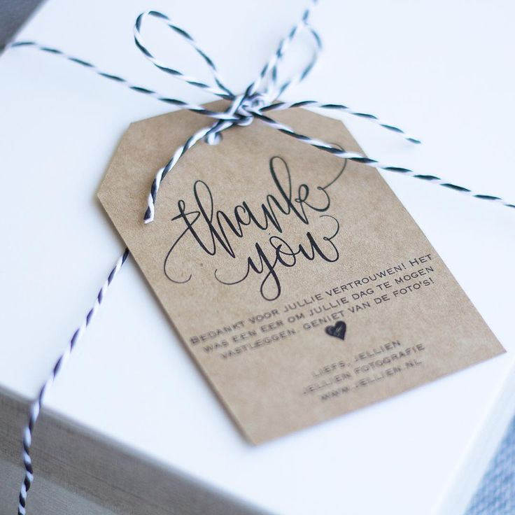 Made some new thank you cards for 'my' couples 🌿 #jellienfotografie #thankyou #gifttag #livethelittlethings #thankyoutag #thehappynow #photopackaging #weddingphotos
