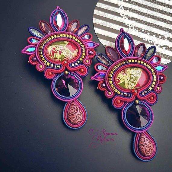 Guarda questo articolo nel mio negozio Etsy https://www.etsy.com/it/listing/590569363/soutache-earrings