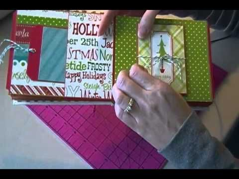 Graphic45 Christmas Emporium Mini Scrapbook Album - YouTube