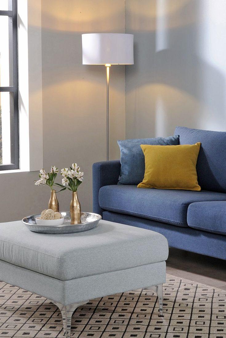 Malli: Monikko | Verhoilu: Kangas, Shetland | Vaihtoehdot: 3-istuttava sohva, modulisohva, rahi, nojatuoli | Jälleenmyyjä: Sotka-myymälät // Model: Monikko | Upholstery: Fabric, Shetland | Options: sofa, sectional, ottoman, chair  #pohjanmaan #pohjanmaankaluste