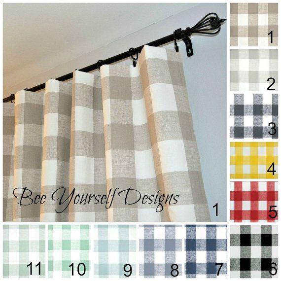 25 Best Gingham Curtains Ideas On Pinterest Family Room