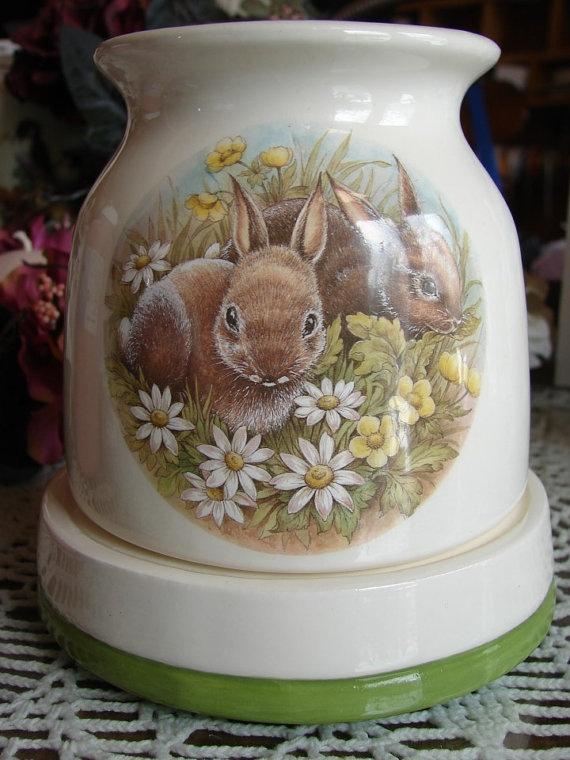 Rabbits Electric Tart Warmer by birdlandparadis on Etsy, $25.00