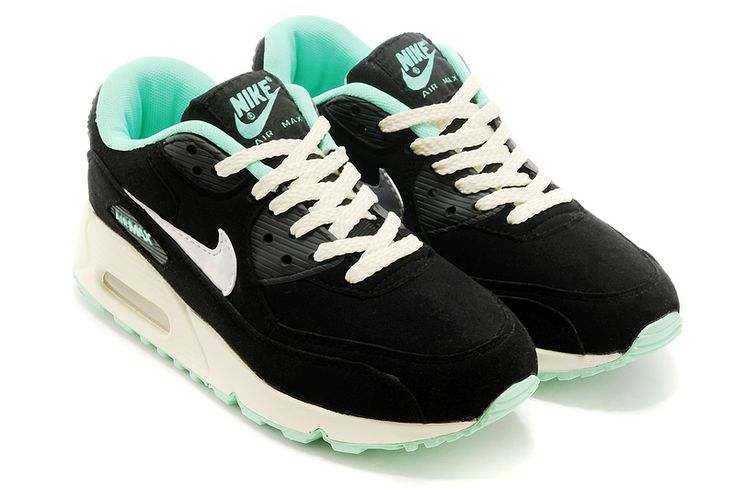 Nike Air Max 90 Womens/Mens Shoes Black Blue for lovers