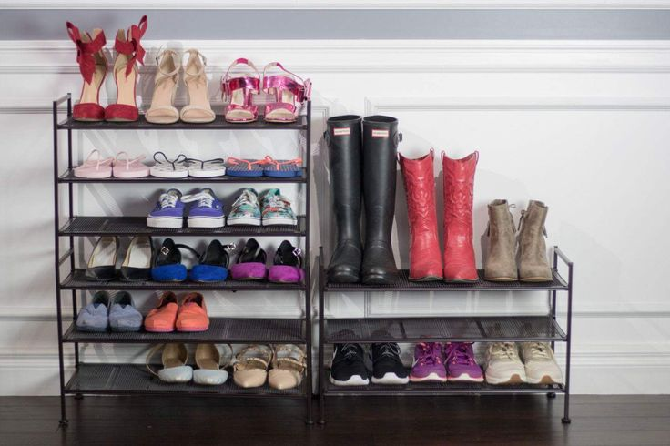 Get your kids to keep their shoes on the rack to make leaving for school in the morning a breeze. Our 3-Tier Mesh Shoe Rack can be attached/connected side by side and stackable if two or more racks are purchased. #TidyLiving #ShoeStorage #ShoeRack #Stackable #Adjustable #StorageSolutions #Tidy #Organize #HomeIdeas #Inspiration