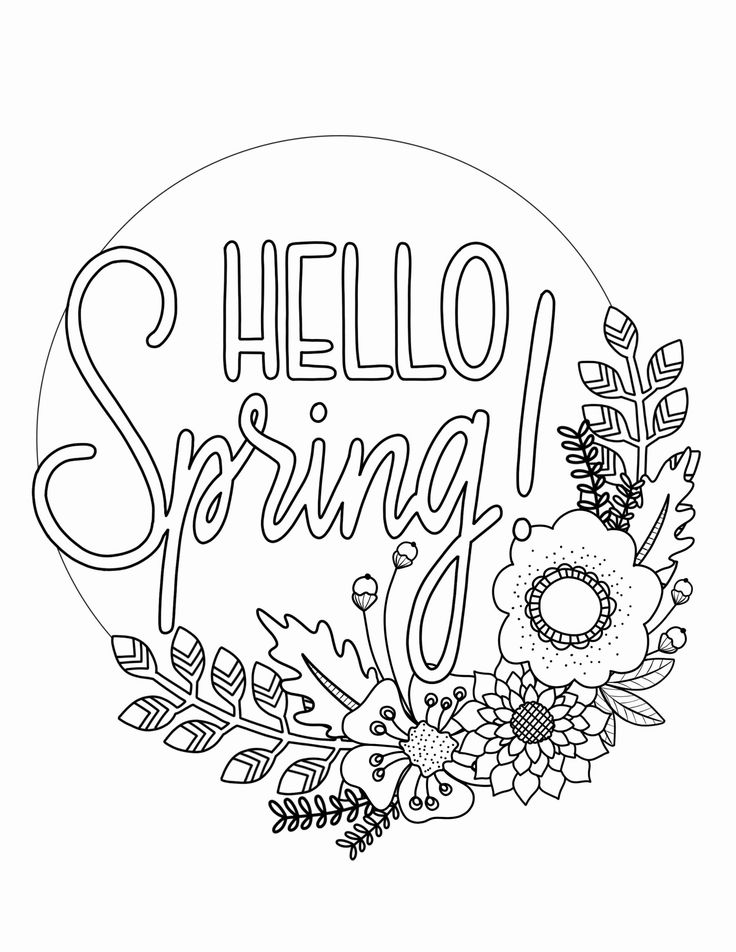 Kids Spring Coloring Pages New Printable Spring Coloring Page Over The Big Moon Spring Coloring Sheets Spring Coloring Pages Easter Coloring Pages Spring color sheets for kindergarten