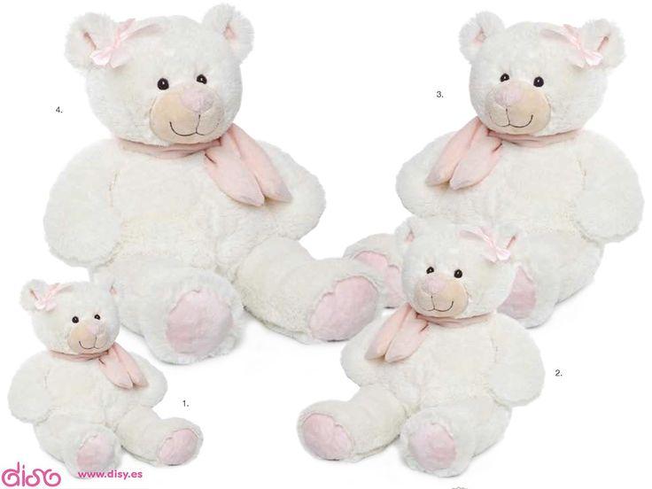 #peluchesparabebés #peluchesdeanimales #peluches Osos de peluche para bebés Pequeño, Mediano, Grande y Gigante - Osito Bufanda Rosa 274 www.disy.es