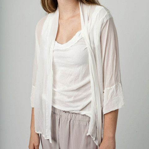 SILK SHEER COVER UP, WHITE – Boutique Online Fashion Clothing Store | Marshmellow