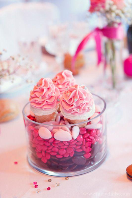Mariage {Marine & Christophe} décoration mariage rose, photographe Fairy Daily, candy bar, bonbons, gourmand, gourmandise