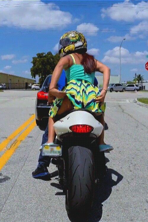 Biker Chick Flashing