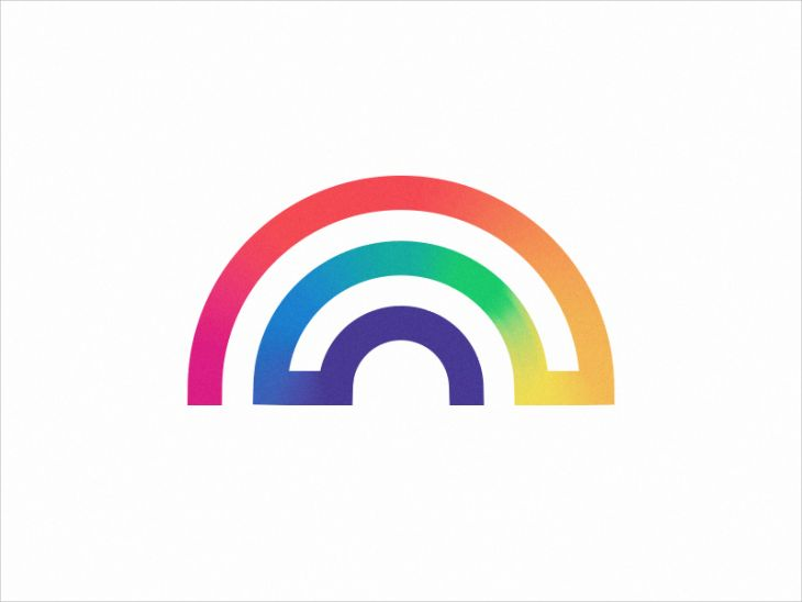 Delightful Lined Rainbow Logo Design