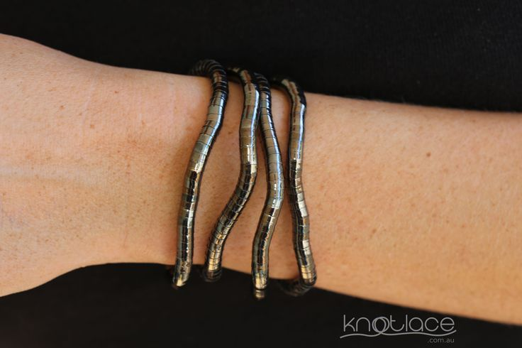 Knotlace 5mm width in gunmetal bendy accessory - http://knotlace.com.au/ #style #fashion #accessory #jewellery