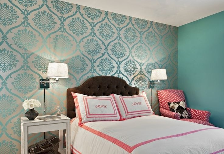 1000 ideas about teal bedroom walls on pinterest teal for Turquoise wallpaper for bedroom