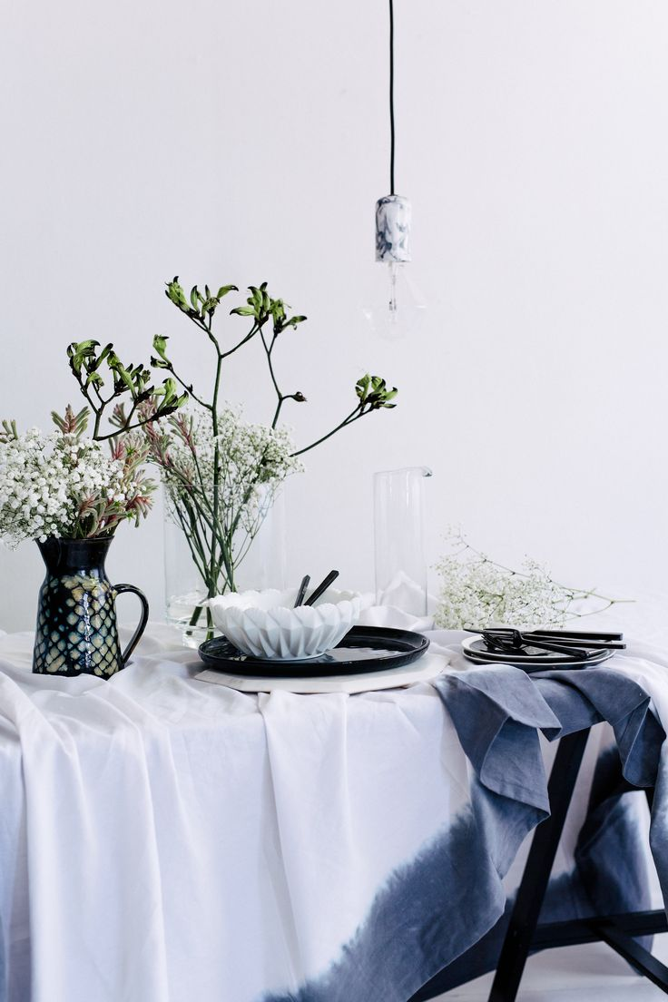 Pairing the unexpected - Babies Breath with black Kangaroo Paw. Photography: Hannah Blackmore. Styling: Olivia Blackmore.