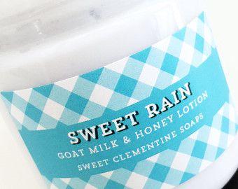 Sweet Rain Lotion, Spring Lotion, Springtime Lotion, Moisturizer, Body Lotion, Hand Lotion, Goat Milk Lotion, Summer Lotion, Fresh Lotion