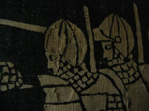 14th century printed fabric in Basel museum