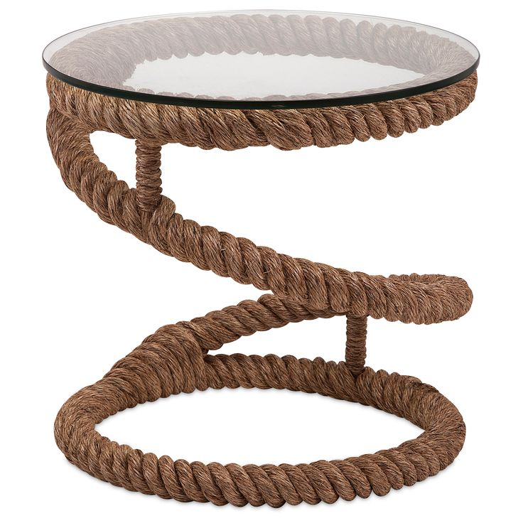 7. Mooring Rope Accent Table, $534 + 20% off