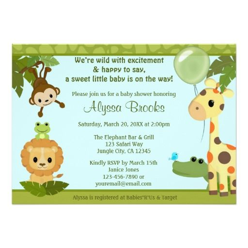 Discount Deals Animal SAFARI PARTY baby shower invitation monkey In our offer link above you will see