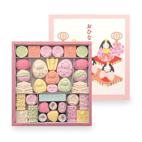 Hina Matsuri Sweets おひなさま 一段 | 季節のお干菓子,雛祭り | | 和三盆のばいこう堂