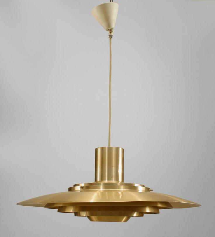 Post-War Design Scandinavian lighting chandelier brass