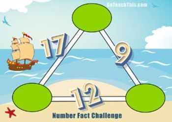 'Number Puzzles': These Number Puzzles are called Arithmagons, they require a mix of mathematical reasoning and basic fact knowledge to solve. Arithmagon number puzzles are an excellent way to explore basic facts and problem solving strategies.  What is an Arithmagon Puzzle?Arithmagons number puzzles with an empty circle sitting on each vertex of a regular polygon (in this case a triangle) and a number sitting on each of the adjoining lines.