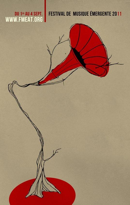 Festival de musique émergente en Abitibi-Témiscamingue 2011 #illustration #rouge #emergent