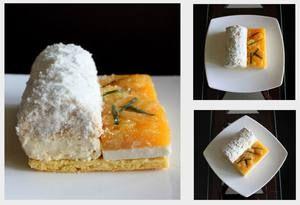 Барбадос - кокосово-манговое пирожное от Адриано Зумбо
