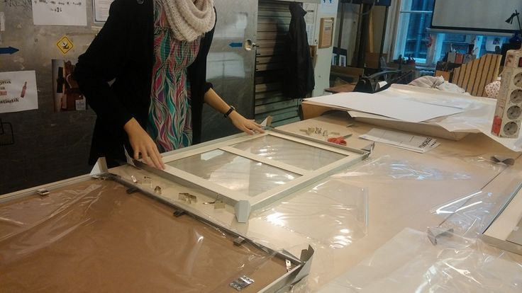 Framing the drawings and photos