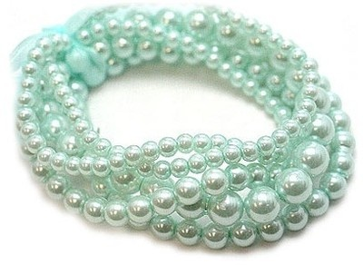 mint colored pearls!