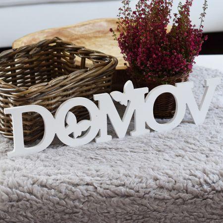 HOUSEDECOR.CZ - DEKORACE - Dřevěné - Dřevěná dekorace - Domov s motýlky