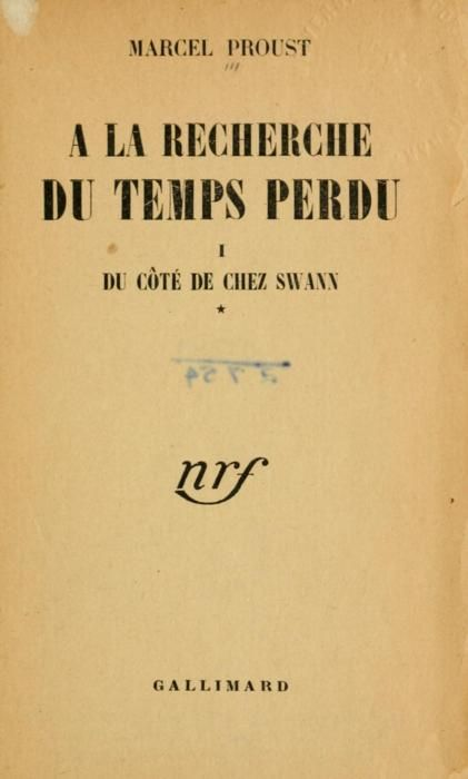 Marcel Proust: Portada À la recherche du temps perdu (Gallimard, 1919)  yama-bato    À la recherche du temps perdu (1919)  Author: Proust, Marcel, 1871-1922Volume: 1Publisher: [Paris] GallimardLanguage: French  http://www.archive.org/details/larecherchedut01prou