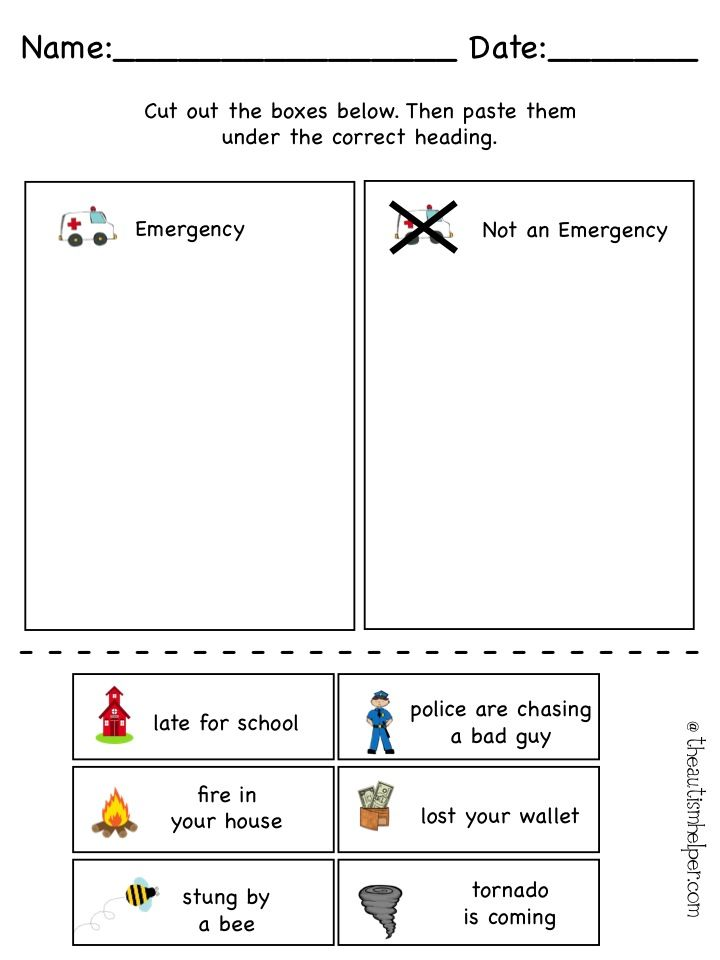 Play Scripts For Students With Autism on Earthquake Worksheet