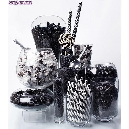 Love the black and white candy bar... throw in some purple then we are good!