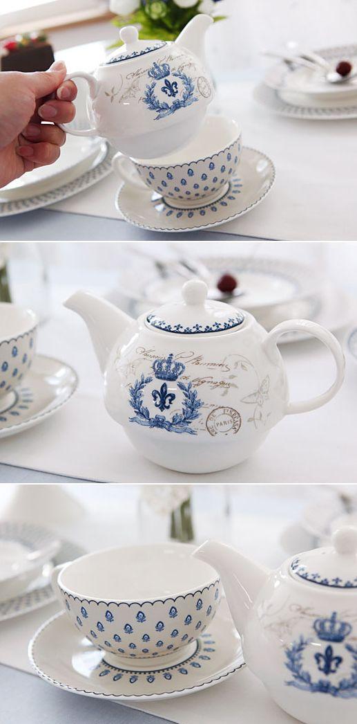 [바보사랑] 동화속에서 본 것 같은 티포트세트 /도자기/티포트/커피잔/머그잔/패턴/머그컵/접시/식기/주방/Ceramic ware/Teapot/Pattern/Mug/Cup/Plate/Tableware/Kitchen
