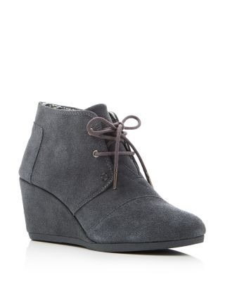 from Hush Puppies · TOMS Desert Wedge Lace Up Booties | Bloomingdale's