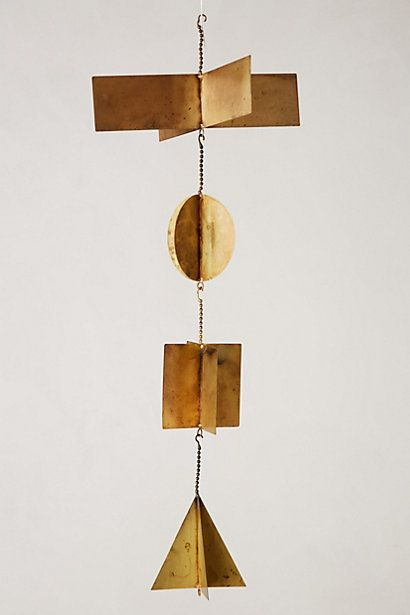 Geo ChimesDecor Ideas, Brass Inspiration, Windchimes, Gardens, Wind Chimes, Anthropologie Com, Geo Chimes, Design, Mobile