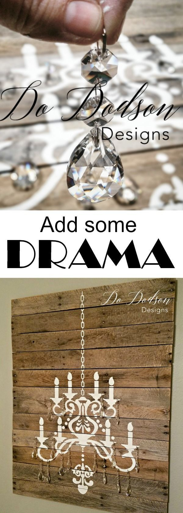 A pallet wood and crystals are the