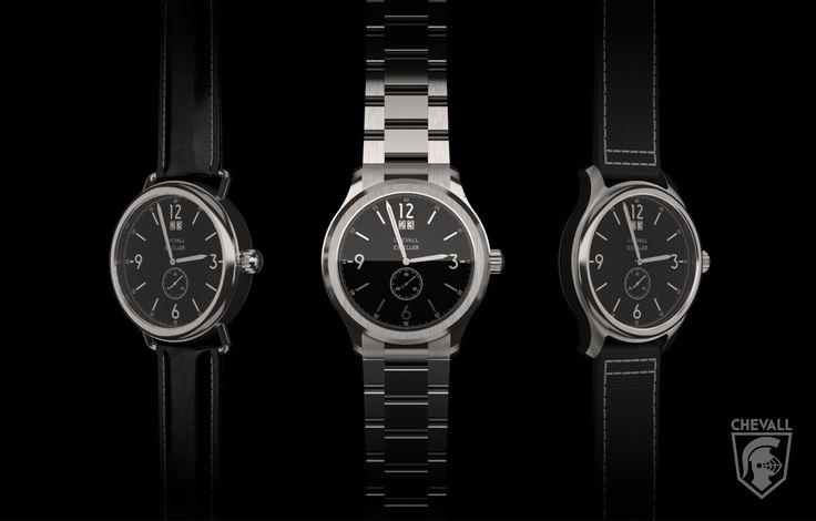 """Chevall Exceller Black with Swiss quartz movement. Kickstarter soon! """"One watch, different opportunities."""" #BeChevall #cavalier #watch #mensfashion #mensstyle #kickstarter https://instagram.com/chevall_watches/"""