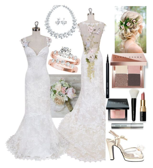 """""""Nature Wedding"""" by kee199905 ❤ liked on Polyvore featuring Bobbi Brown Cosmetics, Terry de Havilland and Bling Jewelry"""