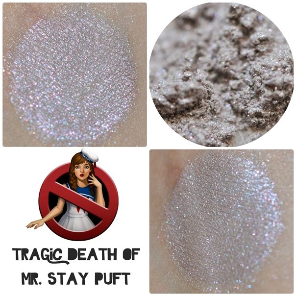 """{Darling Girl - Tragic Death of Mr. Stay Puft - Who Ya Gonna Call} """"A light toasted tan with a hint of blue, red and gold iridescenc"""" Full=$5.90, Petit=$2.50"""